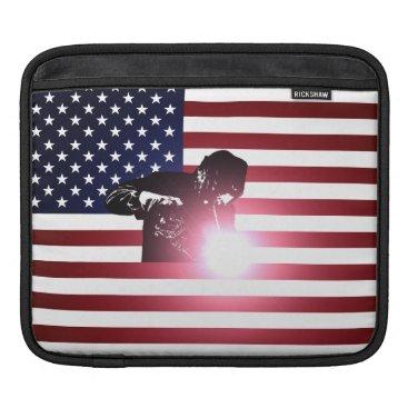 Welder & American Flag iPad Sleeve