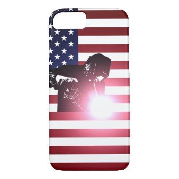 Welder & American Flag iPhone 8/7 Case