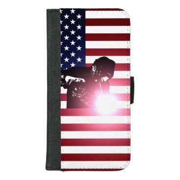 Welder & American Flag iPhone 8/7 Plus Wallet Case