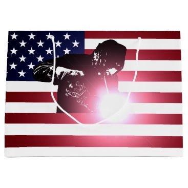 Welder & American Flag Large Gift Bag