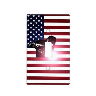 Welder & American Flag Light Switch Cover