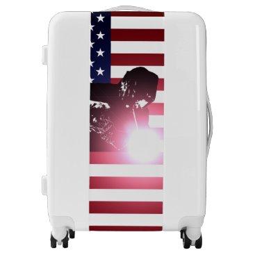 Welder & American Flag Luggage