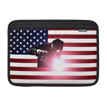 Welder & American Flag MacBook Air Sleeve