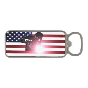 Welder & American Flag Magnetic Bottle Opener