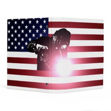 Welder & American Flag Mini Binder