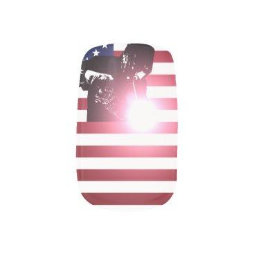 Welder & American Flag Minx Nail Art