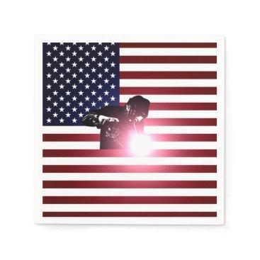 Welder & American Flag Napkin