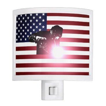 Welder & American Flag Night Light