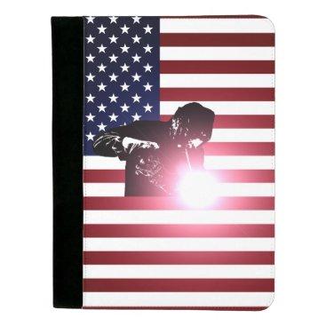 Welder & American Flag Padfolio