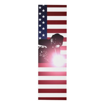 Welder & American Flag Panel Wall Art