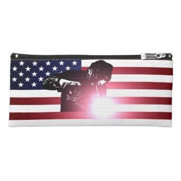 Welder & American Flag Pencil Case