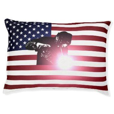 Welder & American Flag Pet Bed