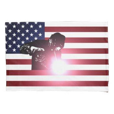 Welder & American Flag Pillow Case