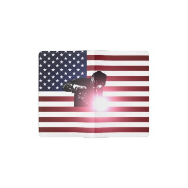 Welder & American Flag Pocket Moleskine Notebook