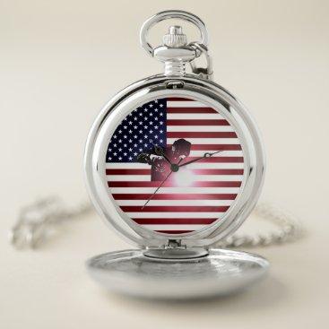 Welder & American Flag Pocket Watch