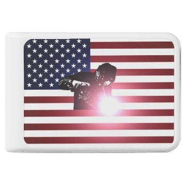 Welder & American Flag Power Bank