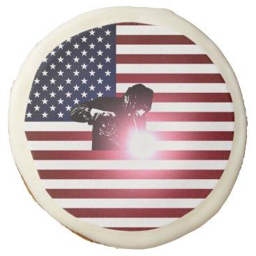 Welder & American Flag Sugar Cookie