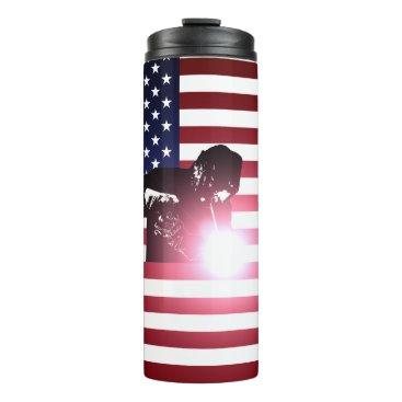 Welder & American Flag Thermal Tumbler