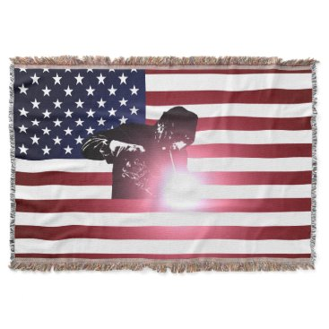 Welder & American Flag Throw
