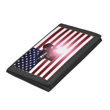 Welder & American Flag Trifold Wallet