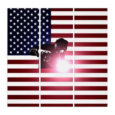 Welder & American Flag Triptych