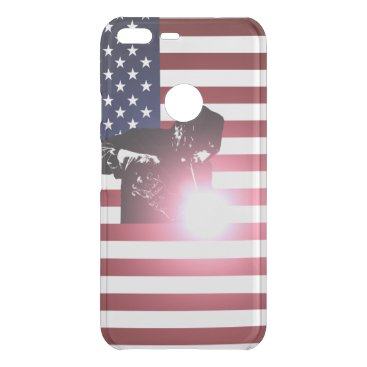 Welder & American Flag Uncommon Google Pixel XL Case