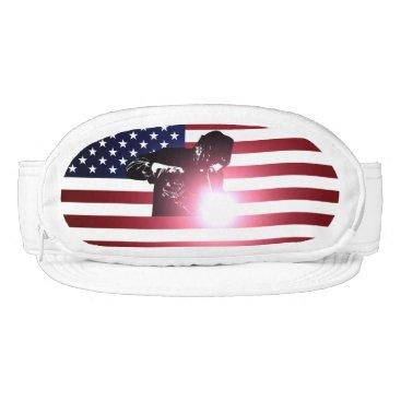 Welder & American Flag Visor