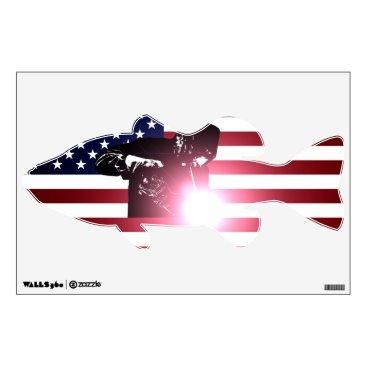 Welder & American Flag Wall Decal