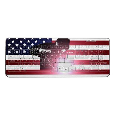 Welder & American Flag Wireless Keyboard