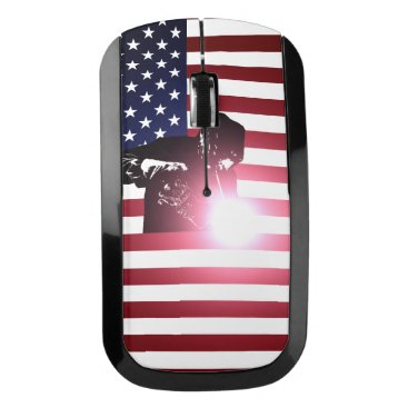 Welder & American Flag Wireless Mouse