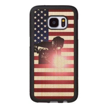 Welder & American Flag Wood Samsung Galaxy S7 Case