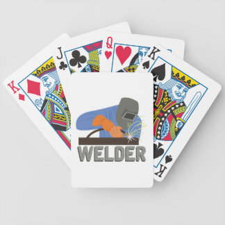 Welder Bicycle Playing Cards