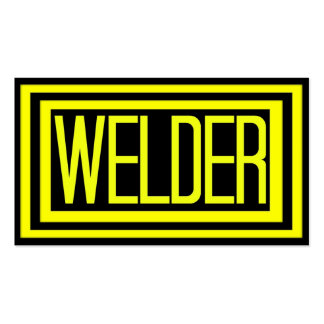 Welder Black and Yellow Matted Frame Double-Sided Standard Business Cards (Pack Of 100)