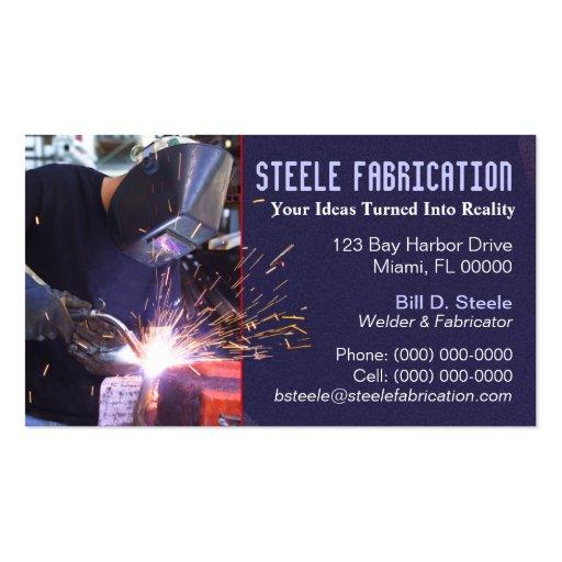 Welding business card templates bizcardstudio for Welding business card ideas