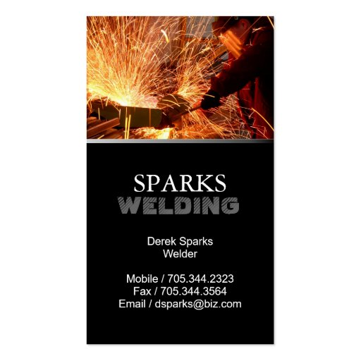 Welder business card for Welder business cards
