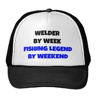 Welder by Week Fishing Legend By Weekend Trucker Hat