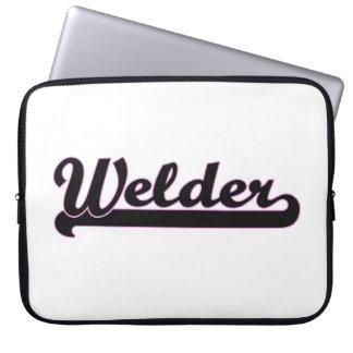 Welder Classic Job Design Laptop Sleeves