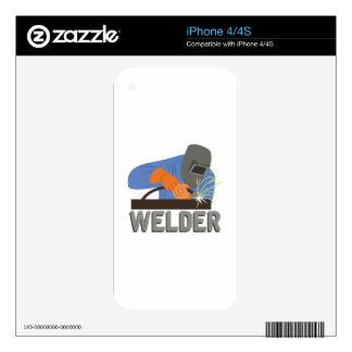 Welder Decals For iPhone 4S