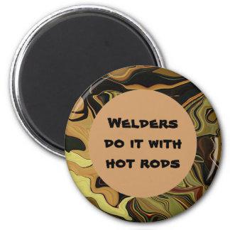 welder do it joke 2 inch round magnet