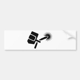 Welder equipment bumper sticker