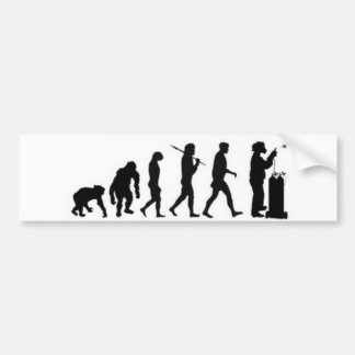 Welder Evolution Bumper Sticker