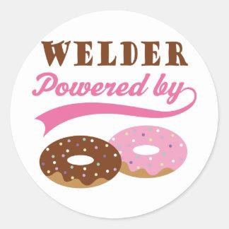 Welder Gift (Donuts) Round Stickers