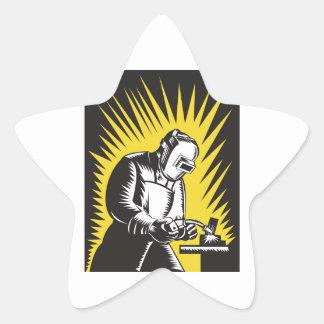 Welder Metal Worker Welding Retro Stickers