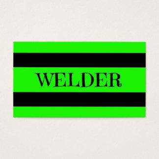 Welder Neon Green Business Card