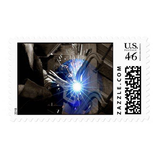 Welder Postage Stamps
