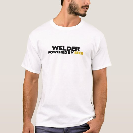 Welder Powered by Beer T-Shirt