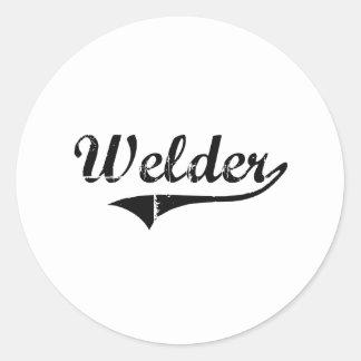 Welder Professional Job Classic Round Sticker
