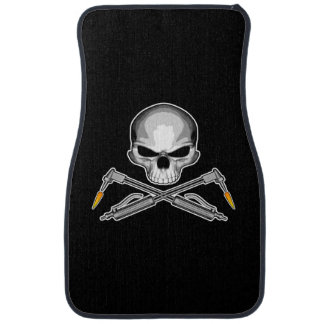 Welder Skull and Crossed Torches Car Mat