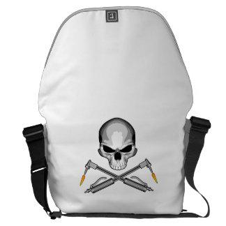 Welder Skull and Crossed Torches Messenger Bag
