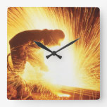 Welder Square Wall Clock